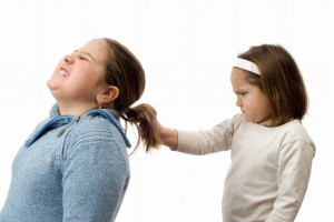 pulling girls hair