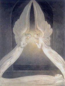 William Blake Angels Hovering Over the Body of Jesus Christ