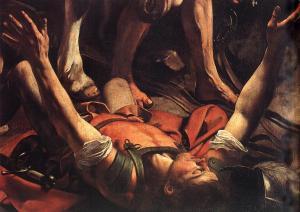 The Conversion on the Way to Damascus - Michelangelo Merisi da Caravaggio