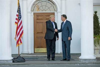 Romney met with Trump today about a possible appointment in the new U.S. administraton