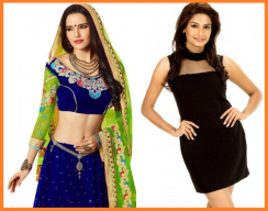 Image result for indian vs. western dress