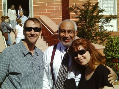 Rick Bennett, Darius Gray, and Margaret Young at MHA in St. George, Utah a few years ago.