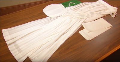 The Mormon Newsroom uploaded a video showing Mormon temple robes