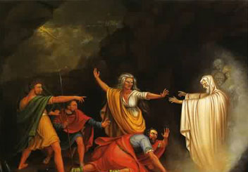 The Witch of Endor conjures up the Dead Prophet Samuel so King Saul can talk to him.  What is this priesthood power she must have used?
