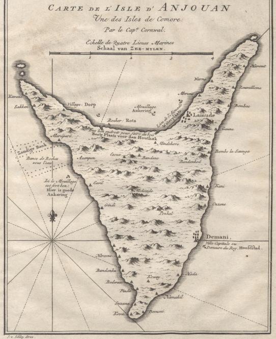 Carte de l'Isle d'Anjouan (2)