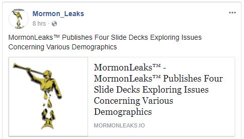 MormonLeaks - Facebook Post