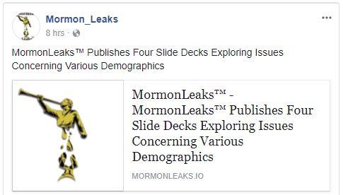MormonLeaks - Facebook Post