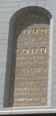 Salt Lake Temple Inscription