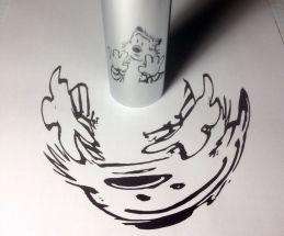 cylindrical art