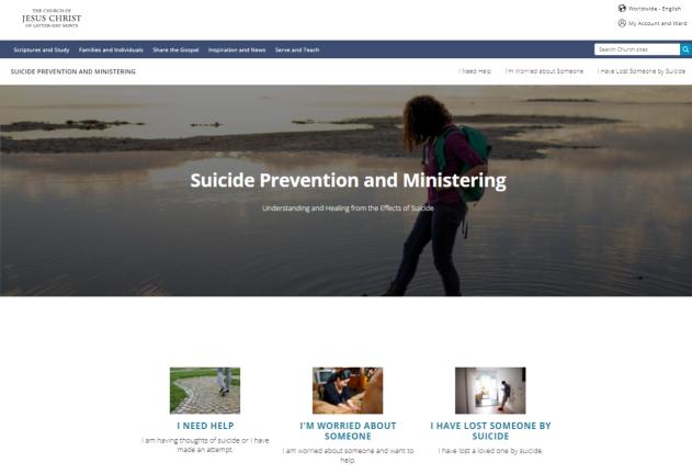 LDS dot org - Suicide Prevention Website