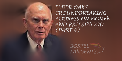 "Elder Oaks gave a 2014 General Conference address that Jonathan Stapley called ""revolutionary."" Do you agree?"