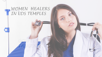 In the 1800s, women anointed with oil, and laid hands on the sick to heal. (They didn't use a stethoscope.)