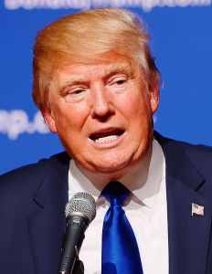 Donald Trump on Aug 19, 2015 - Courtesy Wikimedia Commons