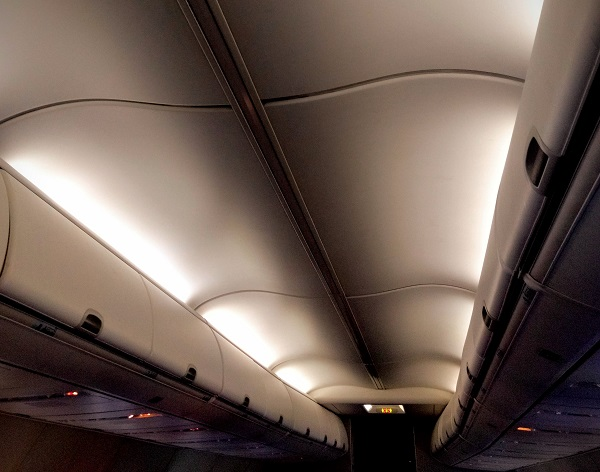 passenger cabin of an airplane