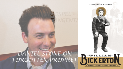 Dr. Daniel Stone has written the first biography of William Bickerton, prophet of the Church of Jesus Christ and firm believer in the Book of Mormon.