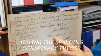 Mark Hofmann added the names of Sidney Rigdon & Solomon Spalding to create evidence of a tie between the men. Steve Mayfield tells how to prove it is a forgery.