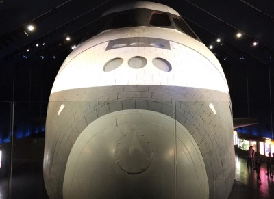 nose view of NASA shuttle Enterprise