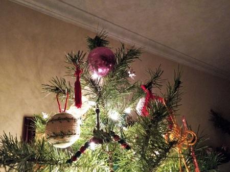 Christmas Tree top with a purple ball