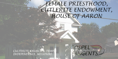 Alpheus Cutler worked on Nauvoo Temple. His group still has an endowment ceremony and believes women receive a temple priesthood.