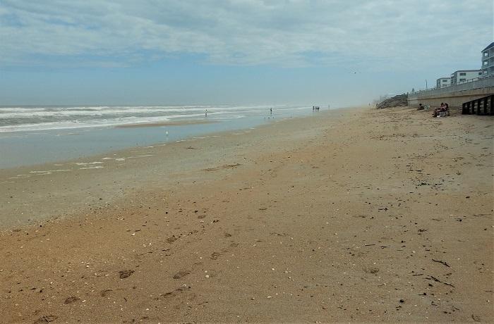 Bethune Beach/New Smyrna Beach Florida on a mild day in February