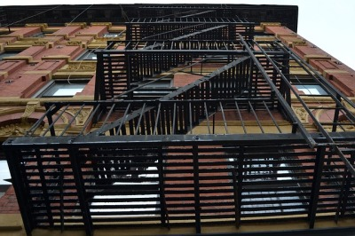 fire escape on a New York City apartment building