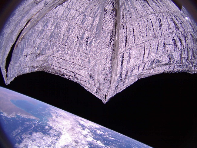 Lightsail 2, a solar sail funded by the Planetary Society orbits over Australia