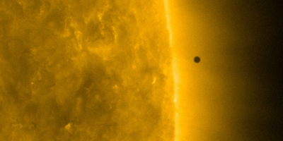 Mercury's egress seen after transiting the sun