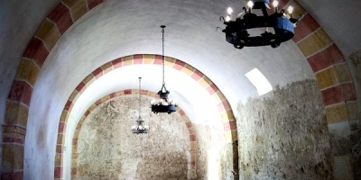 Image of a building's arched interior in the San Antonio Missions National Historical Park