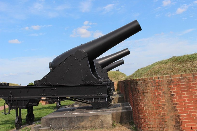 display cannon at Fort McHenry, Baltimore, Maryland