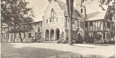 old postcard showing Manresa Jesuit Retreat House