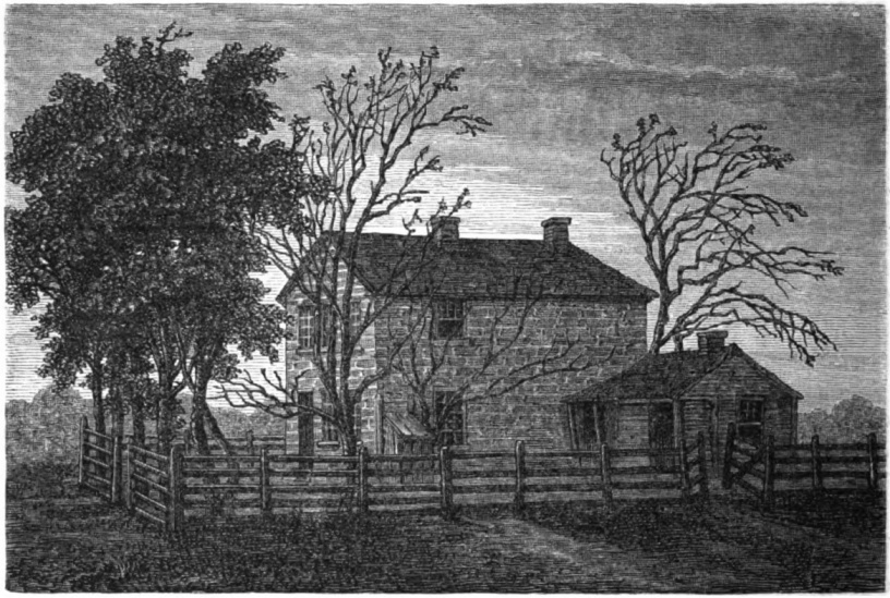 old illustration of Carthage Jail, site of Joseph Smith's assassination